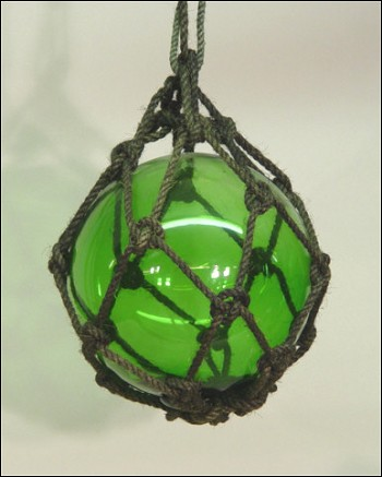 "12"" Green Glass Buoy Float"