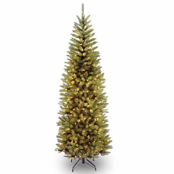 7 1/2 Ft. Kingswood Fir Pencil Christmas Tree with 350 Clear Lights