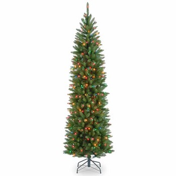 7 1/2 Ft. Kingswood Fir Pencil Christmas Tree with 350 Multi Lights