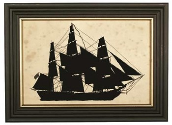 "Silhouette Picture ""Merchant Ship"""