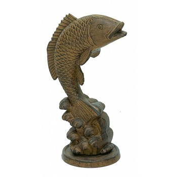 Cast Iron Rust Fish Sculpture