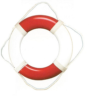 "19"" Red & White Life Ring"