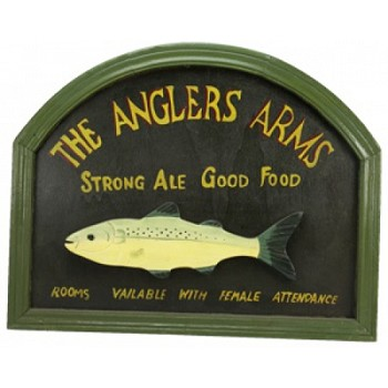Anglers Arms Pub Sign