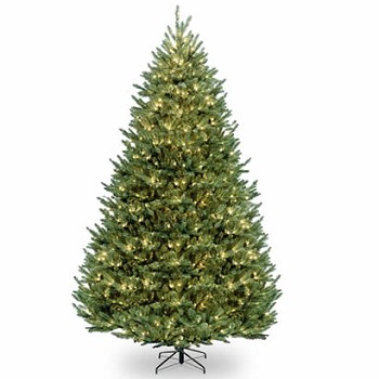12 Ft. Natural Fraser Hinged Christmas Tree with 1200 Clear Lights