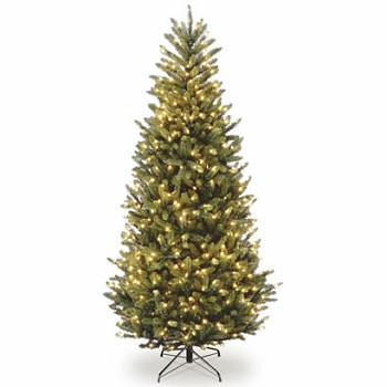 7 1/2 Ft. Natural Fraser Slim Fir Christmas Tree w/ 600 Clear Lights