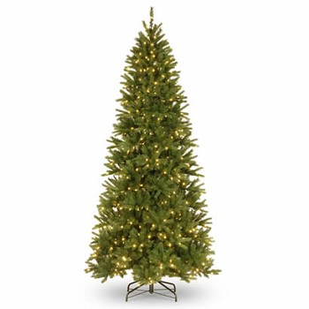 9 Ft. Feel-Real Black Hills Christmas Tree w/ 600 White LED Lights