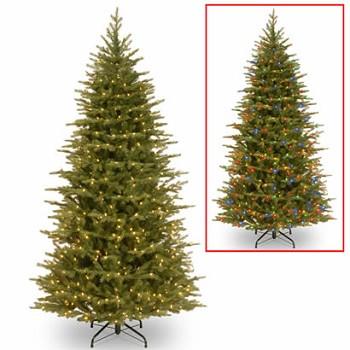 7 1 2 Ft Feel Real Spruce Slim Christmas Tree W 600 Dual Leds