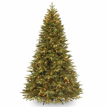 7 1/2 Ft. Feel-Real Pomona Pine Christmas Tree with 700 Clear Lights