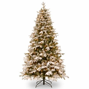 7 1/2 Ft. Feel-Real Snowy Everest Christmas Tree w/ 500 Clear Lights