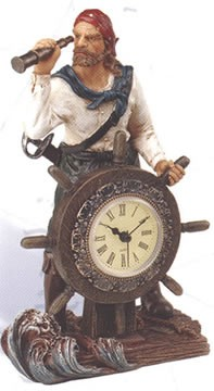 Pirate & Ship Wheel Clock