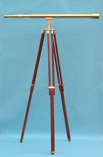 "44"" Brass Harbormaster Telescope on Tripod w/ Standard Mount"