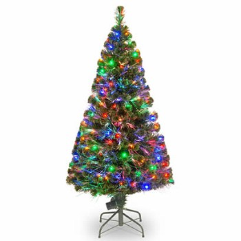 60 In. Fiber Optic Evergreen Christmas Tree with 150 Multi Lights