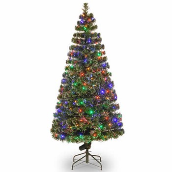 72 In. Fiber Optic Evergreen Christmas Tree with 200 Multi Lights