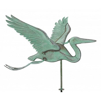 Antique Copper Heron Weathervane