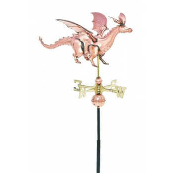Polished Copper 3-D Dragon Weathervane
