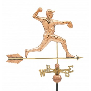 Polished Copper Pitcher Weathervane