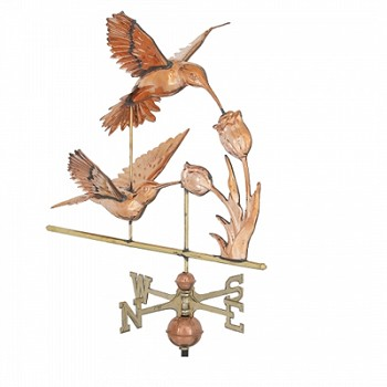 Polished Copper 3-D Hummingbird Weathervane