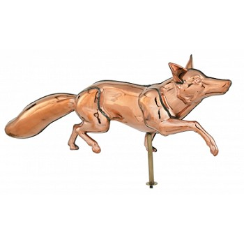 Polished Copper 3-D Fox Weathervane