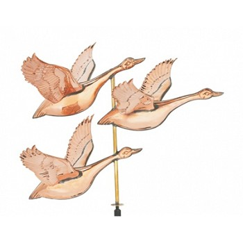 Polished Copper Flying Geese Weathervane