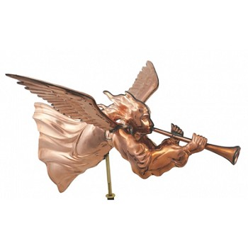 Polished Copper Angel Weathervane