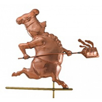 Polished Copper Chef Pig Weathervane