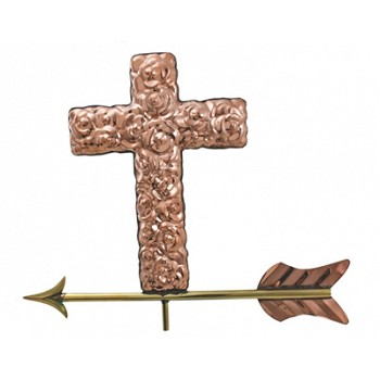 Polished Copper Cross Weathervane