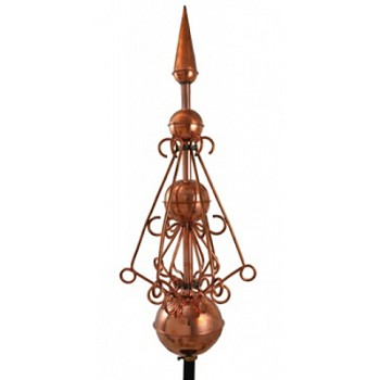 Polished Copper Victorian Finial Weathervane
