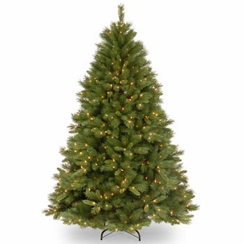 7 1/2 Ft. Winchester Pine Hinged Christmas Tree with 500 Clear Lights