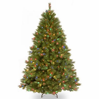 7 1/2 Ft. Winchester Pine Hinged Christmas Tree with 500 Multi Lights