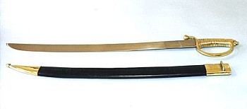 Naval Sword w/ Leather Scabbard