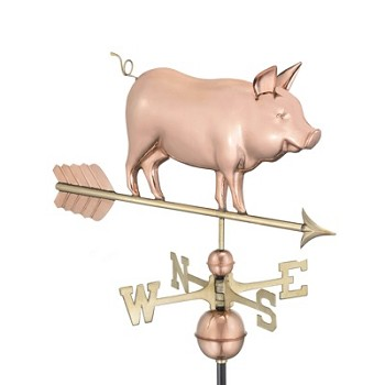 Pure Copper Country Pig Weathervane